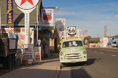 Route 66 decoratie in de stad van Seligman arizona Stock Fotografie