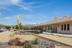 Route 66, depósito histórico da estrada de ferro, Kingman, AZ Foto de Stock Royalty Free