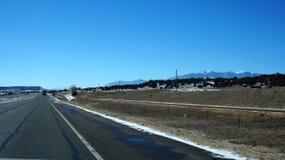 Route des Etats-Unis pendant l'hiver Photo libre de droits