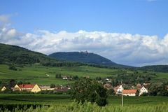 Route des vines in Alsace - France Stock Photo