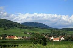 Route des vines in de Elzas - Frankrijk Stock Foto