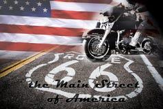 Route 66, die Hauptstraße von Amerika Lizenzfreie Stockfotos