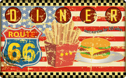 Route 66 diner sign, Stock Photo