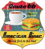 route 66 diner sign Royalty Free Stock Photography
