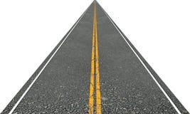 Route directe Photos libres de droits