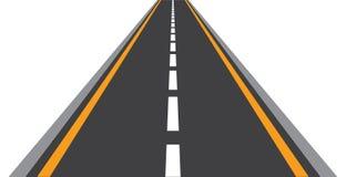Route directement dans la direction en avant illustration de vecteur