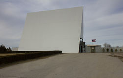 Route 66 Drive-In Theater Blank Screen. Screen for the Route 66 Drive In Theatre located in Carthage, Jasper County, Missouri.  1950's era.  Back of screen is Stock Photo