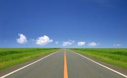 Route droite Photographie stock libre de droits
