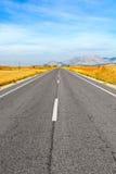 Route droite Images libres de droits