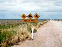 Route droite australienne photographie stock