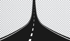 Route droite avec les taches blanches Illustration de vecteur illustration libre de droits