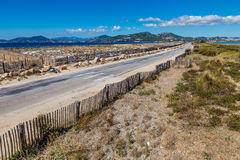 Route Du Sel On Giens Peninsula-Hyeres,France Royalty Free Stock Images