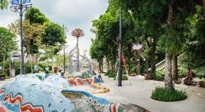 Route du Sentosa Merlion à Singapour Images libres de droits