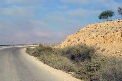 Route du sud dans le désert en pierre l'israel photos stock