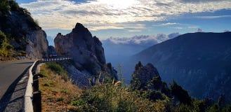 Route du sud de montagnes d'Alpe photo stock