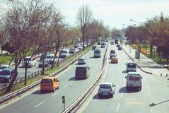 Route du trafic Images libres de droits
