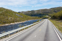 Route E69 in Finnmark, Northern Norway Royalty Free Stock Photos