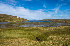 Route E69 in Finnmark, Northern Norway Royalty Free Stock Images