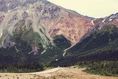 Route en Alaska Photo libre de droits