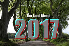 route 2017 en avant Photos stock