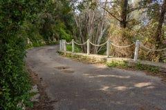 Route en bas de la montagne Photographie stock libre de droits