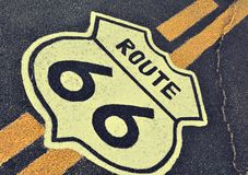 Route 66 en California, los E.E.U.U. Imagen de archivo libre de regalías