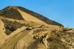 Route en construction Photo stock