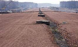 Route en construction Images stock