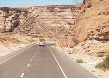 Route en Egypte photographie stock libre de droits
