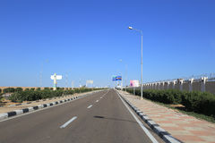 Route en Egypte Photos stock