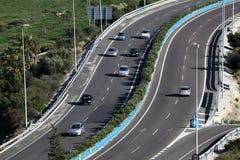 Route en Espagne Photos libres de droits