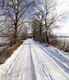Route en hiver Photos stock