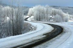 Route en hiver Photographie stock libre de droits