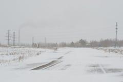 Route en hiver Photographie stock