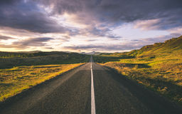 Route en Islande Photo libre de droits