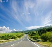 Route en montagne Photo libre de droits