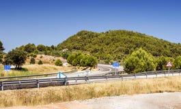 Route en montagnes de Pyrénées Photographie stock