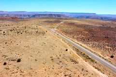 Route en parc national de Grand Canyon sur le dessus Images libres de droits