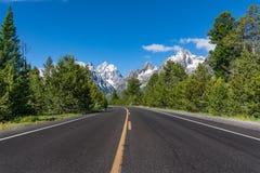 Route en parc national grand de Teton Photographie stock