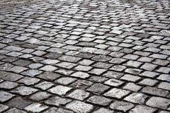 Route en pierre de pavé photo stock