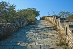 Route en pierre sur la Grande Muraille photographie stock libre de droits