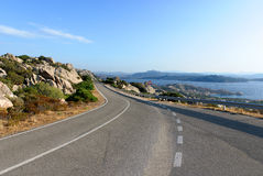 Route en Sardaigne Image stock