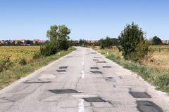 Route en Serbie photos libres de droits