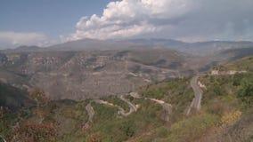 Route en soie en Arménie banque de vidéos