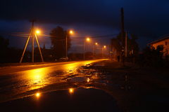 Route en soirée Photographie stock