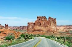 Route en stationnement national d'Arhes Images stock