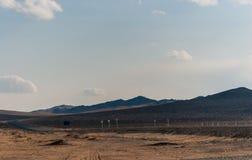 Route en steppe mongole images libres de droits