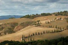 Route en Toscane Photos libres de droits