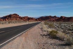 Route en vallée du feu Images stock