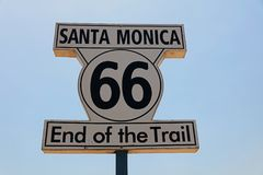 Route 66 - End of Trail Stock Photography